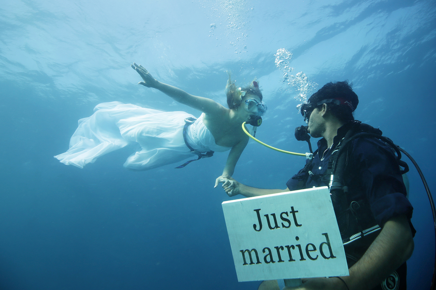 go underwater just for marriage