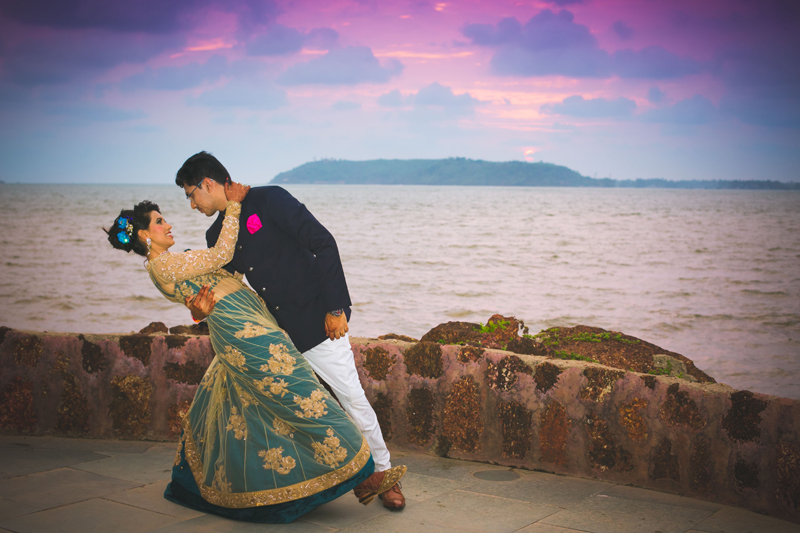 goa wedding couple