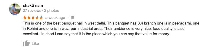 banquets-google-reviews