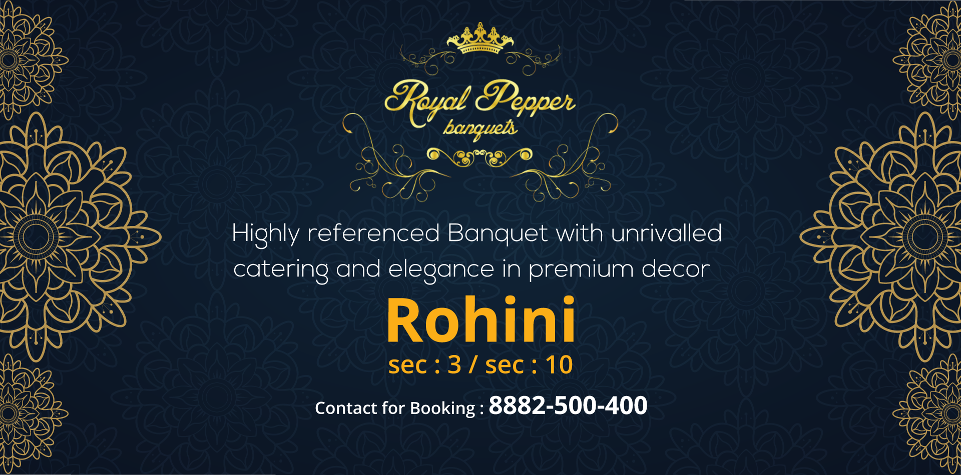 banquets in rohini, Banquet Hall in rohini, By Royal Pepper Banquets